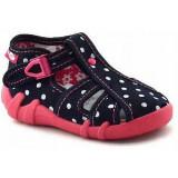 Sandale pentru exterior si interior, RenBut, Fete, 19 - 27, Negru