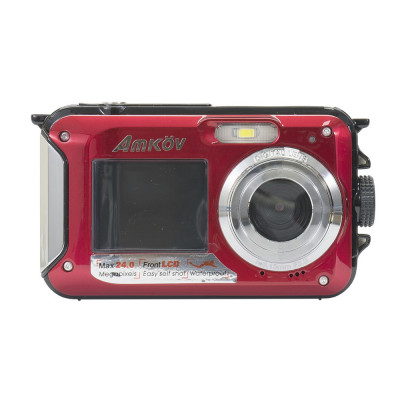 Resigilat : Camera foto digitala PNI Explorer M90 Red 24MP waterproof display dual foto