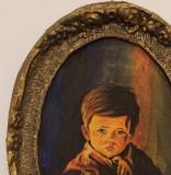 Tablou pictură pe pânză - Copilul care plânge + altele, Portrete, Acrilic, Realism