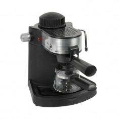 Espressor Cafea Hausberg 650 W, 4 Cești, Sistem Spumare, Capuccino Autentic HomeTV