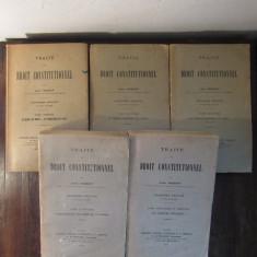 TRAITE DE DROIT CONSTITUTIONNEL-LEON DUGUIT 5 VOLUME