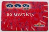 ROMANIA CARTELA ALO GSM 60 UNITATI ROSIE - PENTRU COLECTIONARI **