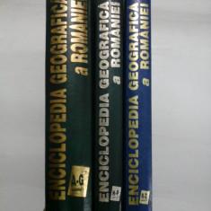 ENCICLOPEDIA GEOGRAFICA A ROMANIEI (3 Volume) - 1996-1998