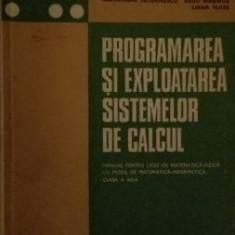 Programarea si exploatarea sistemelor de calcul