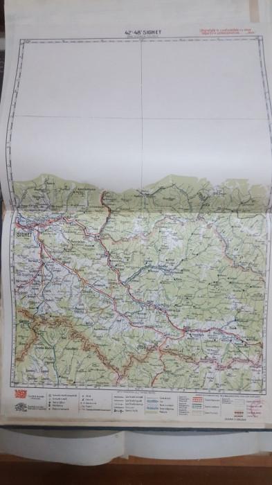 Harta Sighet, Slătioara, Oncești, Ungureni, Munții Rodnei, 1928