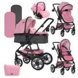 Carucior copii Lorelli Lora Set Pink