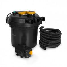 Waldbeck Aquaklar, set filtru de presiune pentru iazuri, 11W curățător UV-C, pompă 35W, furtun 5 m