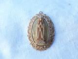 MEDALION vechi JERUSALEM rar FATIMA sculptata in relief pe SIDEF de colectie