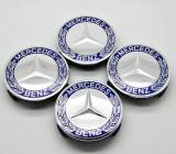 Capace jante Mercedes 4 bucati lauri culoarea albastru