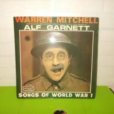 WARREN MITCHELL - ALF GARNET - SONGS OF WORLD WAR I , disc  VINIL  LP, England