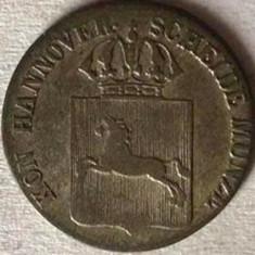 GERMANIA STATUL HANNOVER 1/24 THALER 1841 S, AG.312, KM#178.2, RARA