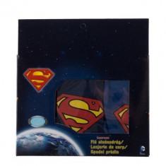 Set 3 chiloti baieti Superman rosii, albastri si navy