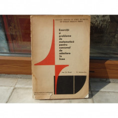Exercitii si probleme de matematica pentru concursul de admitere in licee , 1971