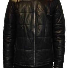 Haina blana naturala barbati, din piele naturala, marca Armadis, SISME-01-19-140, negru