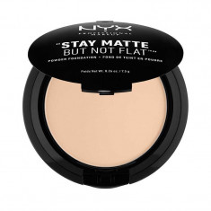 Fond De Ten Pudra Nyx Professional Makeup Stay Matte But Not Flat Nude Beige 7.5 gr