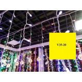 V35-20 INSTALATIE PLOAIE 100 LED 2,5 M ALB
