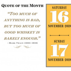 Calendar 2019 - A Year of Good Whisky | Workman Publishing