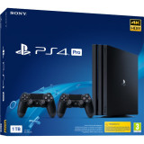Consola SONY Playstation 4 Pro (PS4 Pro) 1TB, Jet Black, G-Chassis + extra controller DualShock 4 V2