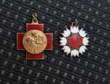 Lot 2 martisoare per regalista Medicina - Crucea rosie romana - martisor medalie