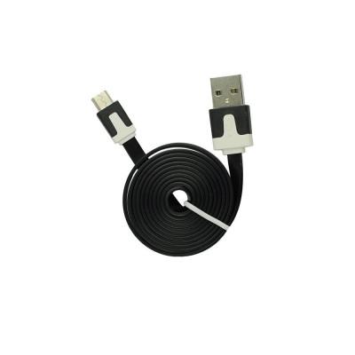 Cablu Date & Incarcare MicroUSB Plat - 1 Metru (Negru) foto