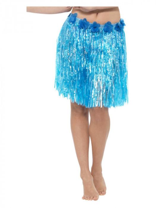 Fusta hawaiiana scurta albastra