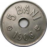 Romania, 5 bani 1906 j_Carol I * cod 186, Cupru-Nichel