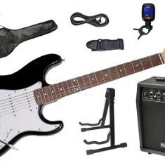 Set chitara electrica Santander ST-500 NEGRU Hy-X-AMP Soundmaster-45