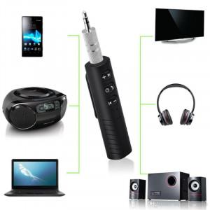 Receptor Techstar® Bluetooth Audio Jack 3.5mm Wireless Auto Clip On BT2
