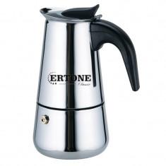 Espressor cafea manual pentru aragaz Ertone, inox, capacitate 4 cesti