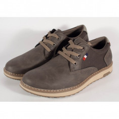 Pantofi barbati/barbatesti office kaki (cod 054151)