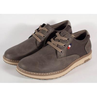 Pantofi barbati/barbatesti office kaki (cod 054151) foto