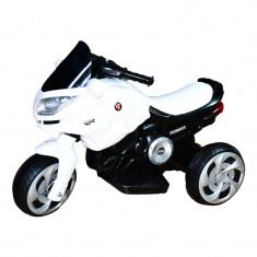 Motocicleta cu acumulator 6V Alb Negru