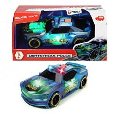 Masina de politie, cu frictiune, sunete si jocuri de lumini, 20 cm Light Strike Police
