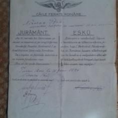 juramantul ceferistilor maghiari catre regele ferdinand 1920