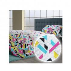 Lenjerie de pat, Dormisete, 2 persoane, Puzzle V1, renforce imprimata, bumbac, 220 x 230 cm, Multicolor, 220x230 cm, Set complet