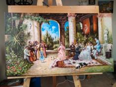 "Reproducere Tablou Theodor Aman - ""Petrecere cu lautari"", pictura, arta foto"