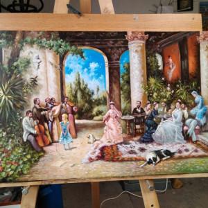 Reproducere Tablou Theodor Aman - Petrecere cu lăutari, pictura, arta
