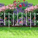 Cumpara ieftin Bordura Gardulet Decorativ Plastic pentru Gazon sau Flori, Dimensiuni 61x30cm, Alb