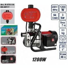 Pompa din inox cu presostat electronic 1200W, Raider RD-WP17