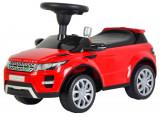 Masinuta Range Rover, cu sunete si lumini, volan si scaun reglabil, pentru copii, capacitate 25kg, culoare rosu