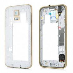 Carcasa mijloc Samsung Galaxy S5 G900 Construit Gold Swap.B