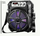 Boxa Bluetooth KTS-1150 radio, mp3, telecomanda + microfon karaoke , 23.5 cm inaltime