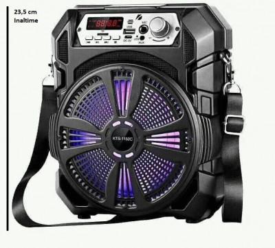 Boxa Bluetooth KTS-1150 radio, mp3, telecomanda + microfon karaoke , 23.5 cm inaltime foto