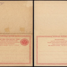 Sweden - Postal History Rare Old Postal stationery + Reply UNUSED DB.192