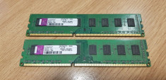 Memorie 2 x 2 Gb Ram DDR3 / 1333 Mhz Kingston / PC3-10600U/ Dual (12B) foto