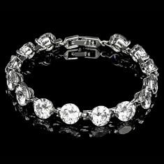 Bratara placata cu Aur 18K si Diamante, Calypso Platinum