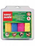 Set 4 lavete profesionale din microfibre Sano Sushi