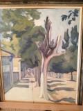 Tablou,Cicerone Popescu-Strada la Rosiorii de Vede,ulei