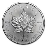 CANADA  5 DOLLARS -MAPLE LEAF- 2015 1 oz. / 31,103 gr. / Ag. 0999 / 38mm, America de Nord