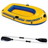 Pachet Promo Barca Gonflabila Challenger + 2 Vasle de 122cm